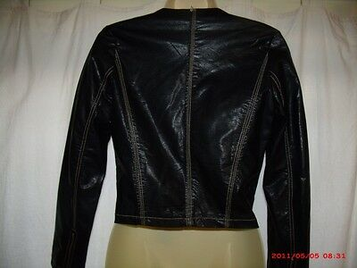 A black leather jacket goes great with a pair of jeans!