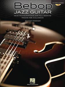 Bebop-Jazz-Guitar-Head-Transcriptions-Backing-Tracks-Gtr-Tab-Bk-Cd-Book-CD