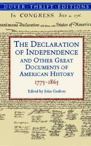 Very Good 0486411249 Paperback The Declaration of Independence and Other Great D - <span itemprop=availableAtOrFrom>Lampeter, United Kingdom</span> - See Item Listing Most purchases from business sellers are protected by the Consumer Contract Regulations 2013 which give you the right to cancel the purchase within 14 days after the day - Lampeter, United Kingdom