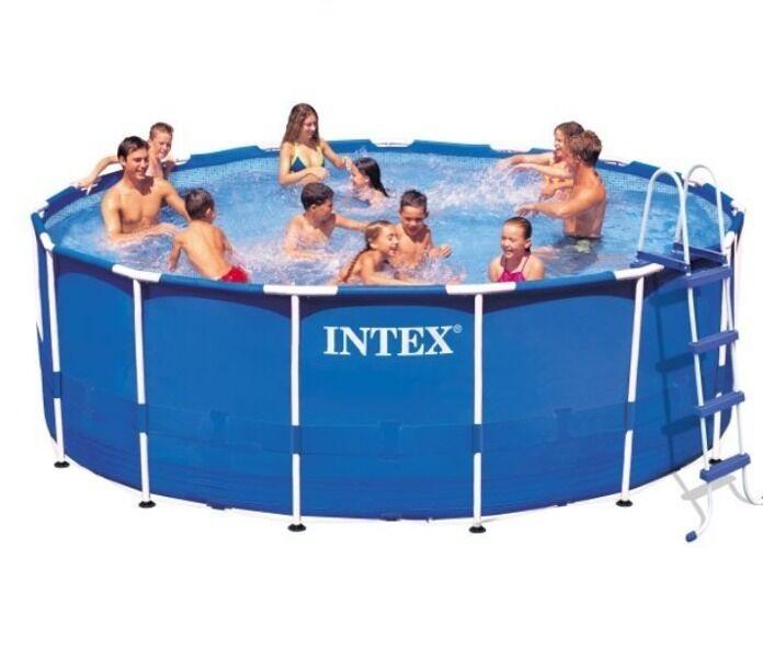 Intex Round Metal Frame Pool 10 24