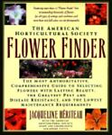 The American Horticultural Society Flower Finder, Jacqueline Heriteau and American Horticultural Society Staff, 0671723456