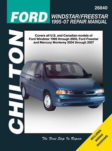 26840 New Chilton Repair Manual Ford Windstar, Freestar   1995-07