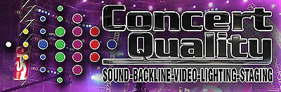 Concert Quality Pro Sound and Video