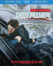 TOM CRUISE Mission:Impossible GHOST PROTOCOL 2-DISC SET BLU-RAY+DVD+Digital COPY