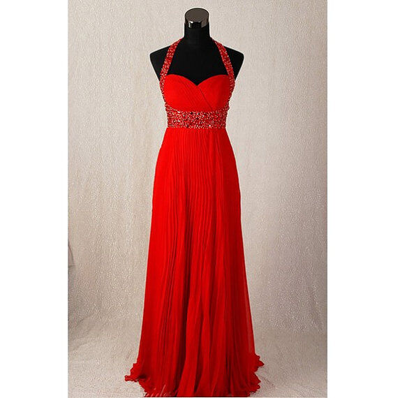 Chiffon Beaded Evening Gowns