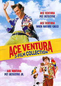 Ace Ventura 3 Film Collection (DVD, 2011, 2-Disc Set) Jim Carrey DVD SET NEW