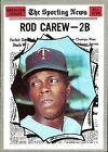 Rod Carew Ungraded Baseball Cards