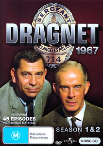 Dragnet: 1967 Season 1 and 2 NEW R4 DVD
