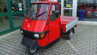 Piaggio APE 50 Pritsche mit Alu-Bordwand rot/silber