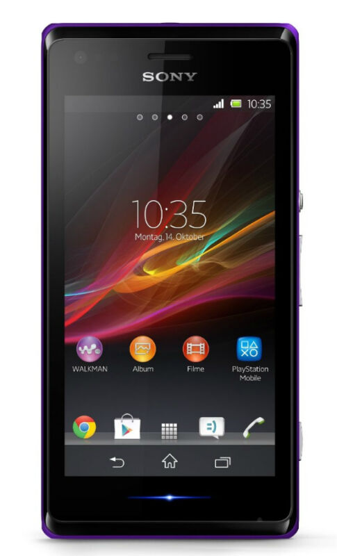 Sony  XPERIA M dual - 4 GB - Purple - Smartphone
