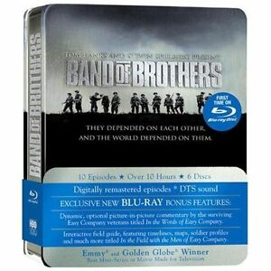 Band of Brothers w/ Limited Tin Case (Blu-ray, new)