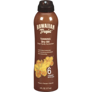 Hawaiian Tropic Tanning Dry Oil SPF 6 6oz, LOT OF 4!