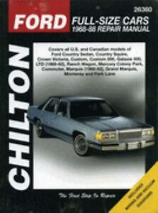 Chilton-039-s-Ford-Full-Size-Cars-1968-88-Repair-Manual-1995-Paperback