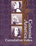Colonial America Reference Library Cumulative Index, Julie L. Carnagie, 0787637912