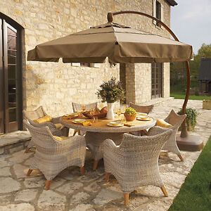 Patio Umbrellas Stands Table fset & Lights