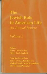 The Jewish Role in American Life, Barry Glassner