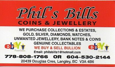 Phils Bills coin and jewellery