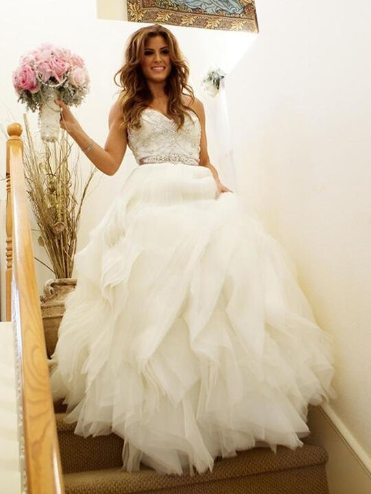 Top 7 ballroom style wedding dresses ebay for Ballroom gown wedding dress