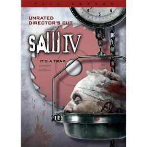 Saw IV DVD, 2008, Full Screen - Unrated Directors Cut  - $3.45