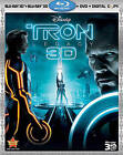 Tron: Legacy (Blu-ray/DVD, 2011, 4-Disc Set, Includes Digital Copy; 3D) (Blu-ray/DVD, 2011)
