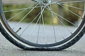 Flat tire bicycles