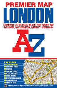 London-Premier-Map-by-Geographers-039-A-Z-Map-Company-Sheet-map-folded