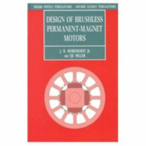 Design-of-Brushless-Permanent-Magnet-Motors-HARDCOVER-Ships-UPS