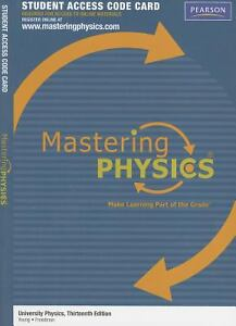 MasteringPhysics Access Code   US EText for University Physics    e  Young  eBay