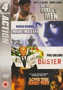 All The Queen's Men/Nightmaster/Buster/Love The Hard Way (DVD, 2008)E0286