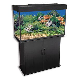Altra furniture harbor 50 75 gallon aquarium stand ebay for 50 gallon fish tank hood