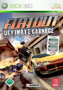 Xbox 360 FlatOut: Ultimate Carnage Microsoft gebraucht deutsch OVP  englisch TOP