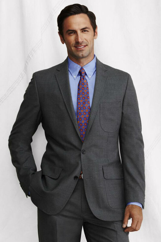 Wool Light Charcoal Suit