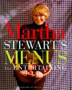 Martha-Stewarts-Menus-for-Entertaining-1994-Hardcover-GREAT-COOKBOOK-GIFT