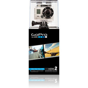 GoPro HD HERO2 Motorsports Edition & LCD BacPac NEW