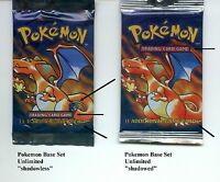 Shadowless Pokemon Cards and Booster Packs