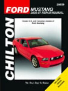 2005 2007 chilton ford mustang repair manual 1563926741 ebay. Black Bedroom Furniture Sets. Home Design Ideas