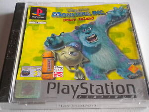 MONSTERS-INC-SCARE-ISLAND-PLATINUM-COMPLETE-PLAYSTATION-ONE-PS1-PS2-PS3-GAME