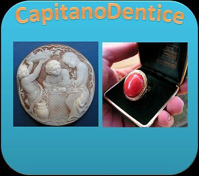 Jewels Vintage Shell Cameo Coral