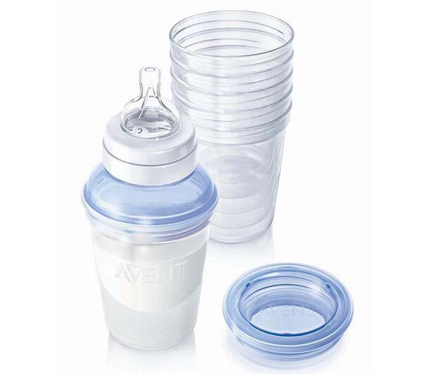 Baby-Ernährungsratgeber: Muttermilchbehälter für eine sterile Aufbewahrung