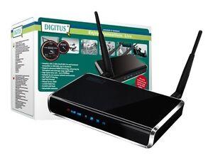 DIGITUS WLAN Breitband Wireless Router 300Mbit 4x 10/100 Mbps LAN