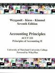 Accounting Principles, Acct 221 Principles of Accounting II, Jerry J. Weygandt, 0470183829