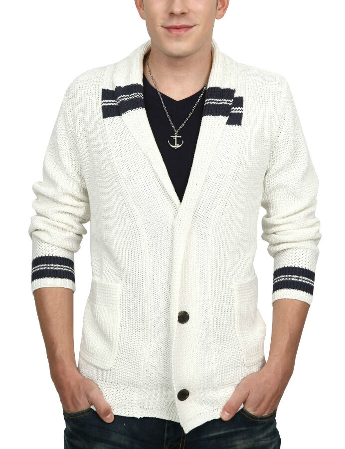 A Guy's Guide to Wearing a Button-Front Cardigan