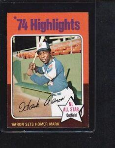1975 Topps Hank Aaron 1 Baseball Card