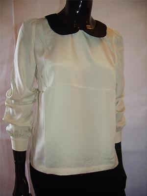 Ladies Womens Peter Pan Collar Blouse Shirt Top on eBay