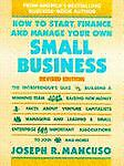 How to Start, Finance, and Manage Your Own Small Business, Joseph R. Mancuso, 0671763563