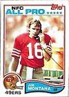 Topps Rookie Joe Montana Original Football Trading Cards