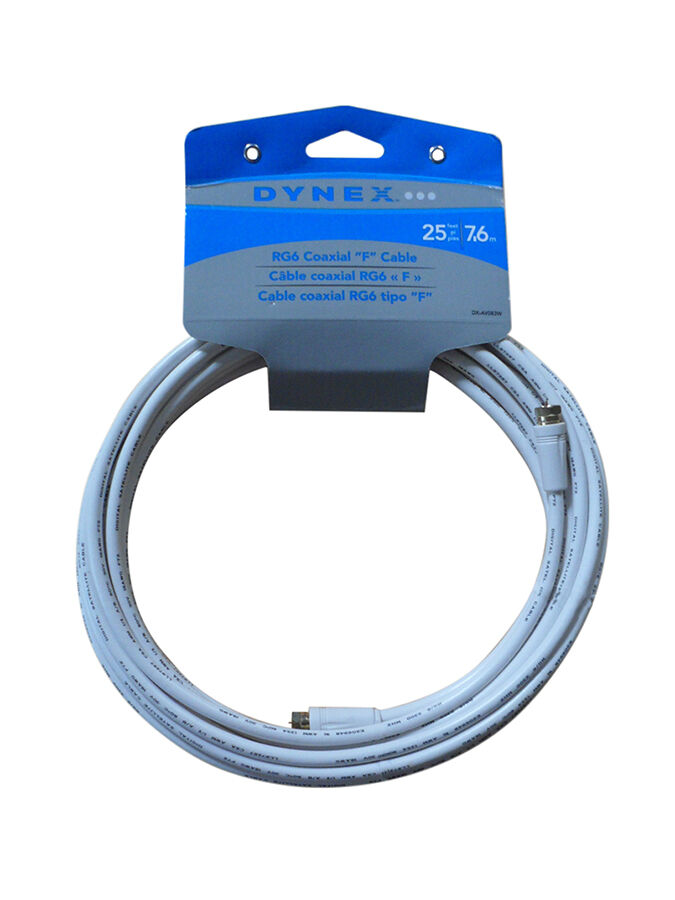 Dynex RG6 Coaxial A/V Cable