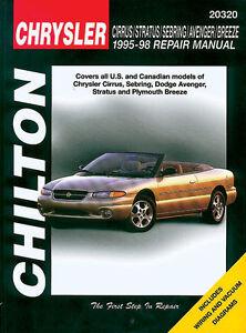 Chilton    Repair    Manual    chrysler cirrus stratus sebring
