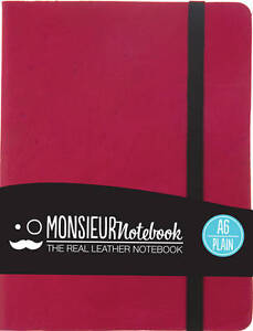 Monsieur-Notebook-Leather-Journal-Pink-Plain-Small-A6-by-Monsieur-Leather