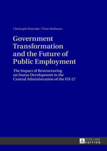 Government Transformation and the Future of Public Employment, Christoph Demmke